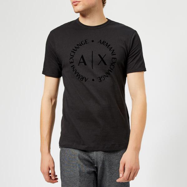 Armani Exchange Men s Tonal Logo Reg Fit T-Shirt - Black Clothing ... 2b46bd3206ef1