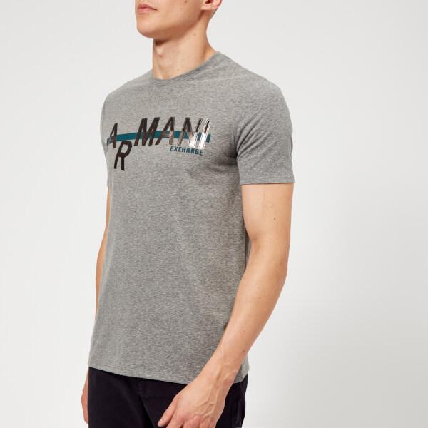 Armani Exchange Men's Metallic Logo T-Shirt - Grey