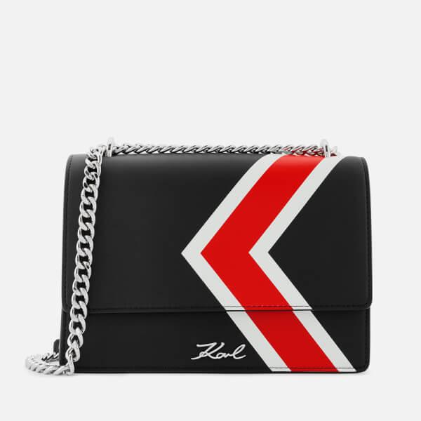 Karl Lagerfeld Women s K Stripes Shoulder Bag - Black - Free UK ... 4e3791e18735e