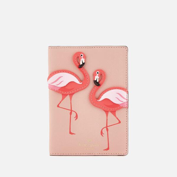 Kate Spade New York Women's Flamingo Passport Holder - Multi