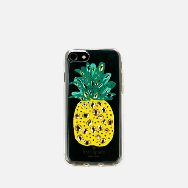 Kate Spade New York Women's Jewelled Pineapple iPhone 8 Cover - Clear/Multi