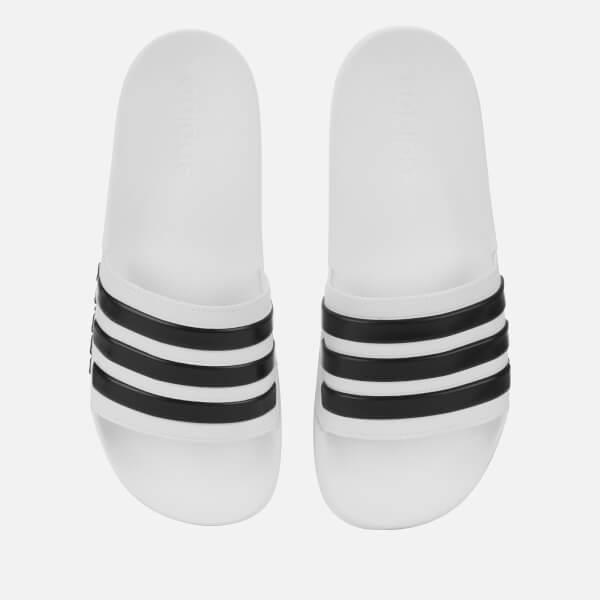 new concept 011df 16fdb adidas Mens Adilette Shower Slide Sandals - White Image 1