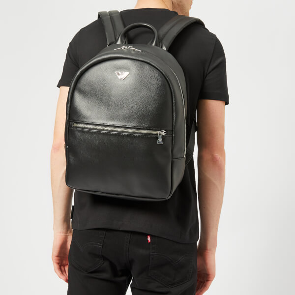 Emporio Armani Men s Logo Backpack - Black  Image 3 67bdb9c05a1f6