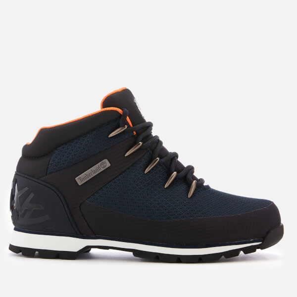 bee714bade19 Timberland Men s Euro Sprint Waterproof Hiker Style Boots - Navy  Image 1