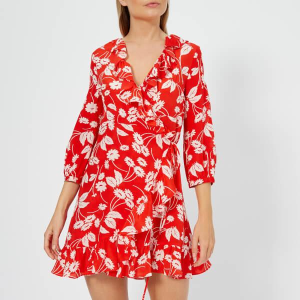RIXO Women's Abigail Mini Dress - Abstract Daisy