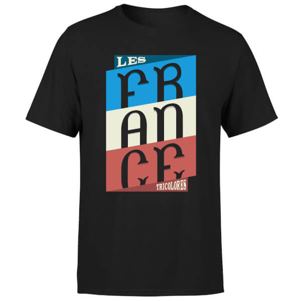 Les Tricolores Men's T-Shirt - Black