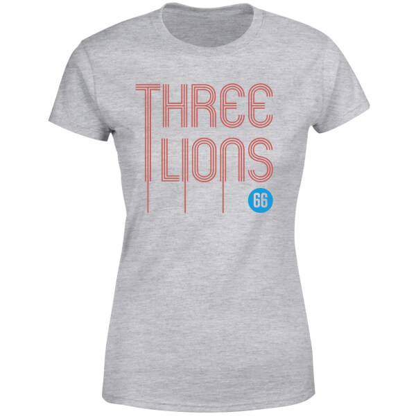 Three Lions Women's T-Shirt - Grey