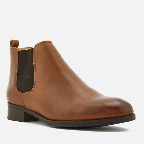 3075d8c877c4 Clarks Women s Netley Ella Leather Chelsea Boots - Tan  Image 3