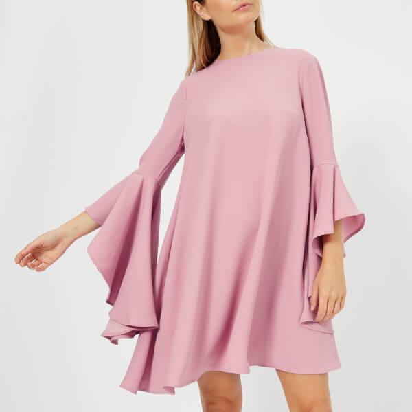 9faa88b8397d35 Ted Baker Women s Ashleyy A Line Waterfall Sleeve Dress - Dusky Pink  Image  1