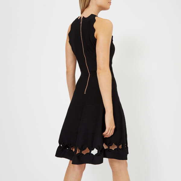 Ted Baker Women s Cherina Bow Detail Knitted Skater Dress - Black  Image 2 337875895