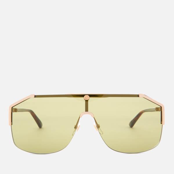 Gucci Men's Metal Angle Sunglasses - Gold/Havana