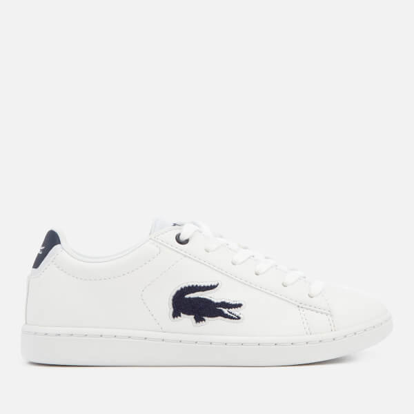 209359fb5a0f1c Lacoste Kids  Carnaby Evo 318 1 Trainers - White Navy Junior ...