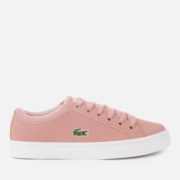 1c3afa019 Lacoste Kid s Straightset 318 1 Trainers - Pink Natural  Image 1
