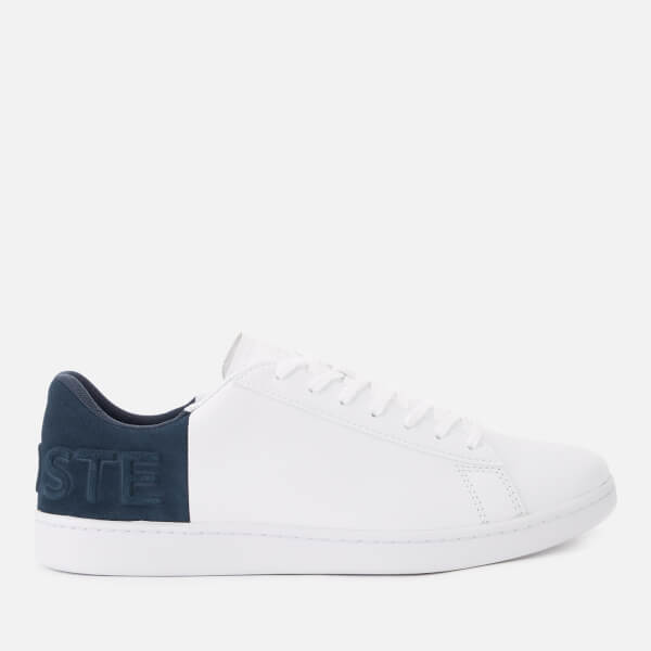 7a39a0a40373c Lacoste Men s Carnaby Evo 318 6 Leather Suede Trainers - White Navy  Image
