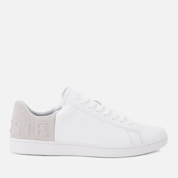 Lacoste Women's Carnaby Evo 318 3 Leather/Suede Trainers - White/Light Grey