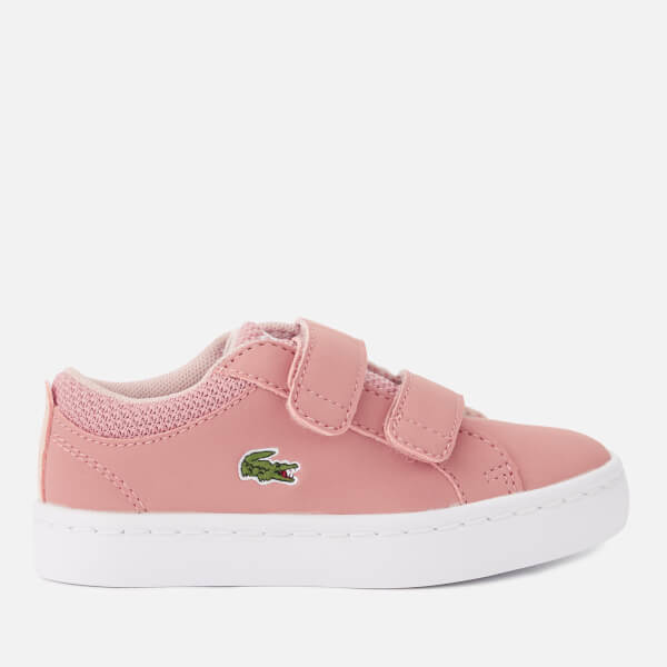 Lacoste Toddler's Straightset 318 1 Velcro Trainers - Pink/Natural
