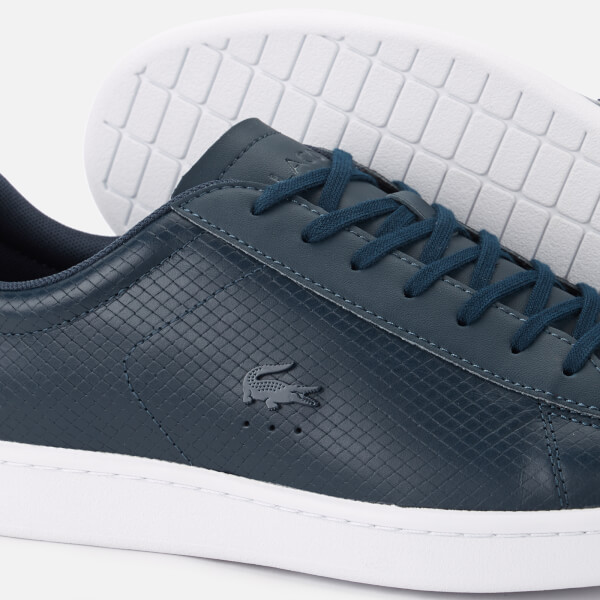 114cb8198ae428 Lacoste Men s Carnaby Evo 318 7 Croc Leather Trainers - Navy  Image 4