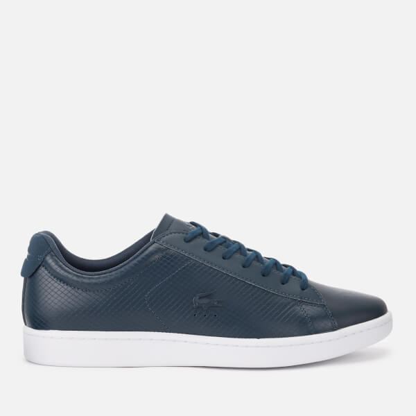 f5cb4492a4b136 Lacoste Men s Carnaby Evo 318 7 Croc Leather Trainers - Navy  Image 1