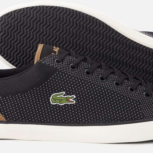 dd119300a66cb2 Lacoste Men s Lerond 318 1 Textile Trainers - Black Tan Mens ...