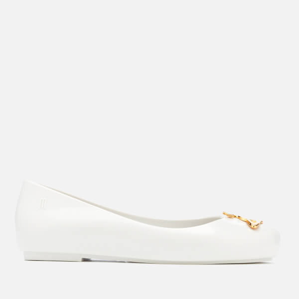 Mini Melissa for Vivienne Westwood Kids' Space Love Ballet Flats - White Orb