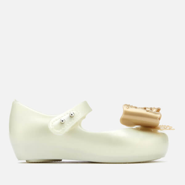 Mini Melissa Toddlers' Ultragirl Fairy Bow Ballet Flats - Pearl