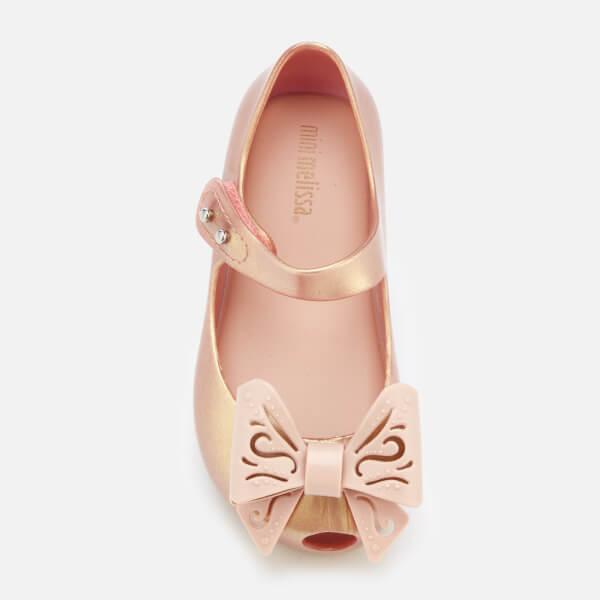 8fbb41ccb36d8 Mini Melissa Toddlers  Ultragirl Fairy Bow Ballet Flats - Rose Gold  Image 3