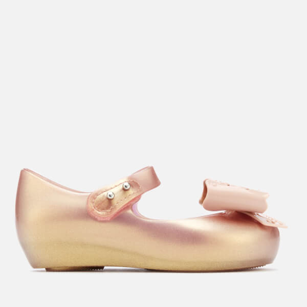 c35b028d1262b Mini Melissa Toddlers  Ultragirl Fairy Bow Ballet Flats - Rose Gold  Image 1