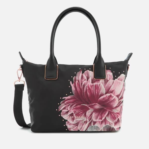 ce6e911e4395c Ted Baker Women s Llisa Tranquility Small Nylon Tote Bag - Black  Image 1