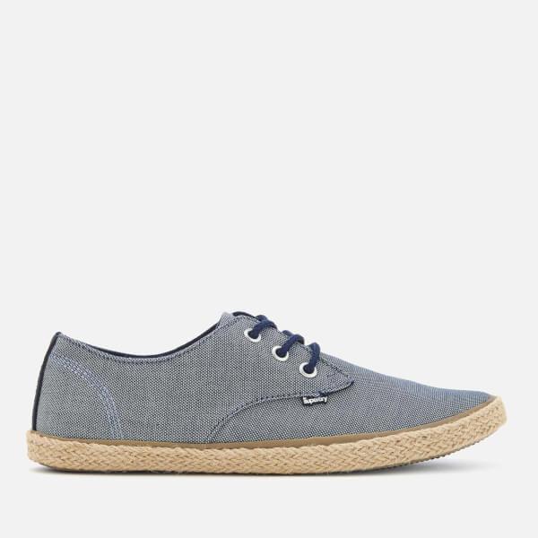 Superdry Men's Skipper Shoes - Blue Textured Denim