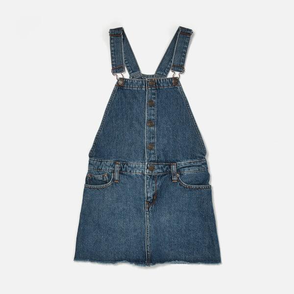Tommy Hilfiger Girl's Dungaree Dress - Blue