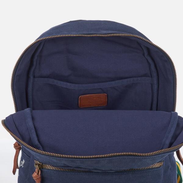 281f3d05a95 Polo Ralph Lauren Men s Canvas Logo Backpack - Navy - Free UK ...