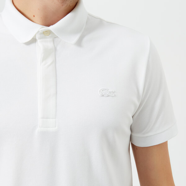 686abaa5946b Lacoste Men s Short Sleeve Paris Polo Shirt - White Clothing ...