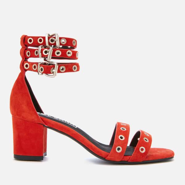 Sol Sana Women's Sugar Suede Heeled Sandals - Red