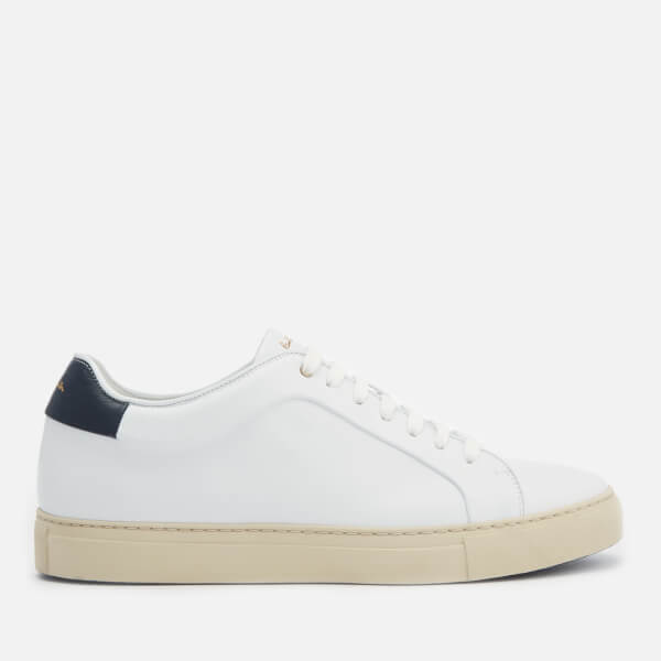 Paul Smith Men's Basso Leather Cupsole Trainers - White/Navy Tab