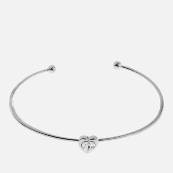 Ted Baker Women's Hasina: Swarovski Crystal Heart Ultra Fine Cuff - Silver/Crystal