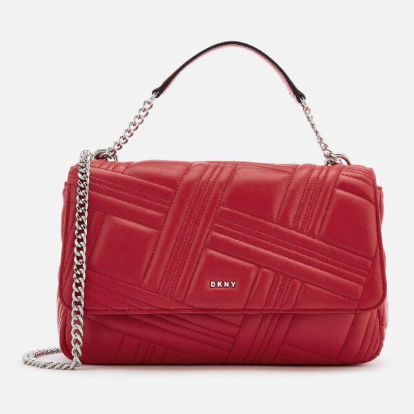 3a047ff1a0a6 DKNY Women s Allen Large Flap Quilt Shoulder Bag - Rouge Womens ...