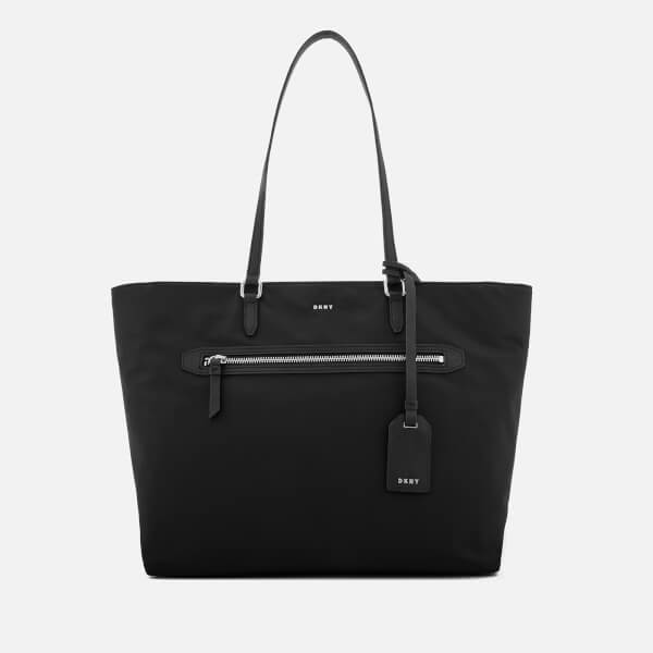 Dkny Women S Casey Large Tote Bag Black Silver Image 1