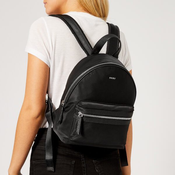 DKNY Women s Casey Backpack - Black Silver  Image 3 d90a42e93179f