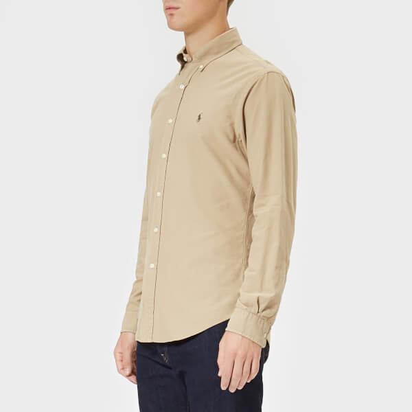 Polo Ralph Lauren Men's Garment Dyed Slim Fit Shirt - Surrey Tan