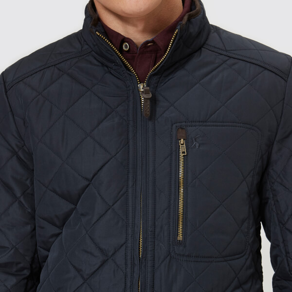 Joules Mens Derwent Quilted Jacket Marine Navy Clothing Thehut