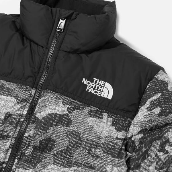2824a52af The North Face Boys  Nuptse Down Jacket - TNF Black Textured Camo ...