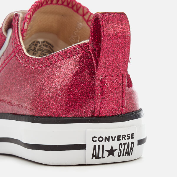 f194ba39e90b Converse Toddlers  Chuck Taylor All Star 2V Ox Trainers - Pink Pop Natural