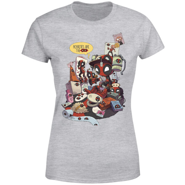 Marvel Deadpool Merchandise Royalties Women's T-Shirt - Grey
