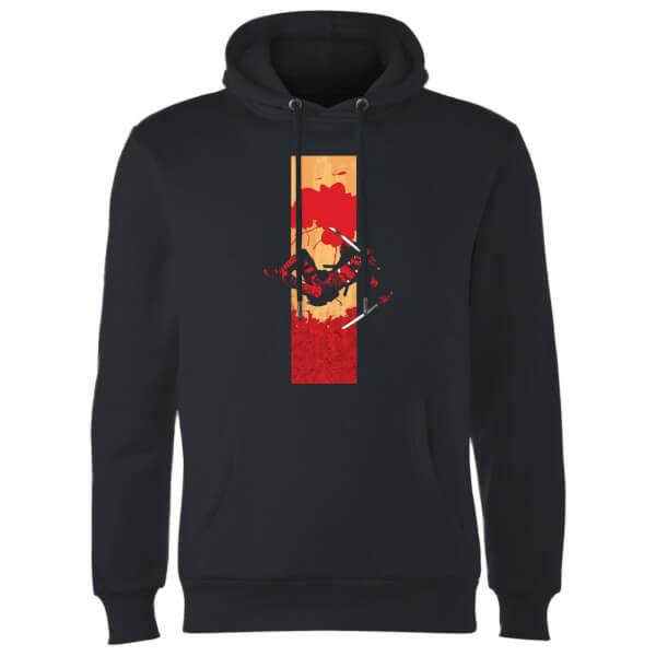 Marvel Deadpool Blood Strip Hoodie - Black