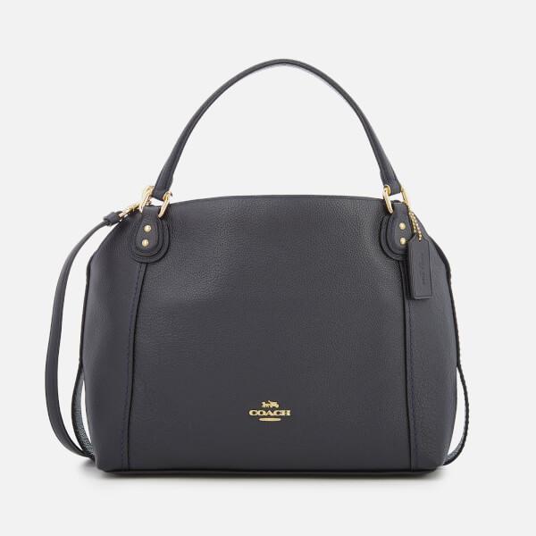 Coach Women's Leather Edie 28 Shoulder Bag - Navy