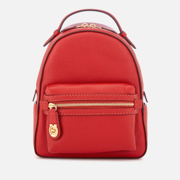 Coach Women's New Leather Campus Backpack 23 - Jasper