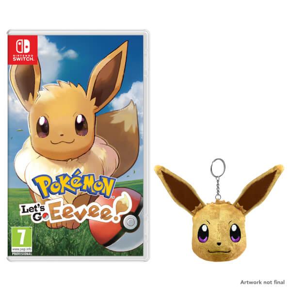 Pokémon: Let's Go, Eevee! + Eevee Keychain