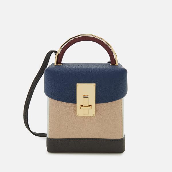 The Volon Women's Great L. Box Basic Bag - Navy/Ivory