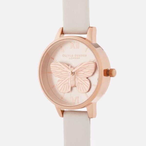 f049b0b9e732 Olivia Burton Women s 3D Butterfly Watch - Blush Rose Gold  Image 3