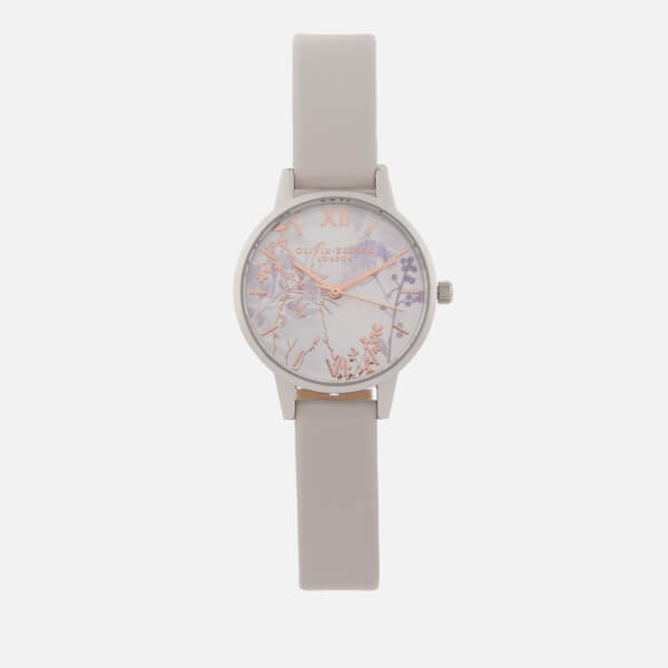 Olivia Burton Women's Illustrated Animals Watch - Vegan Blush, Rose Gold/Silver